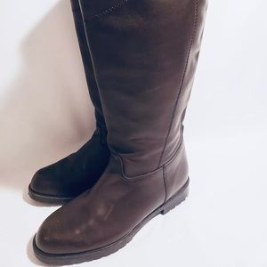 Blondo Knee High Riding Boots Brown Leather Size 9